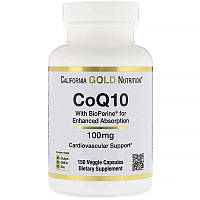 "Коэнзим Q10 California GOLD Nutrition ""CoQ10 with Bioperine"" с биоперином,100 мг (150 капсул)"