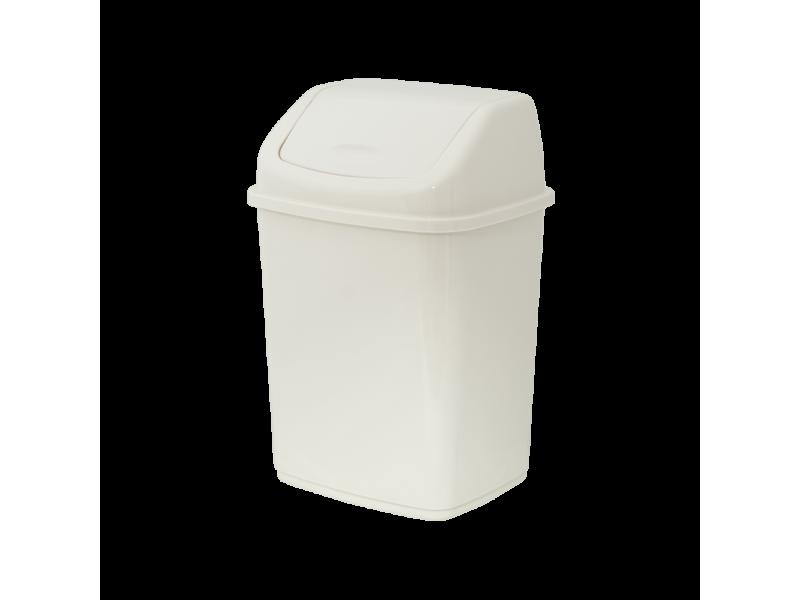 """Пластиковое мусорное ведро с плавающей крышкой """"Алеана"""" 10л"""