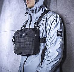 Нагруднаяя сумка BEZET Walker black '19