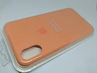 Силиконовый чехол накладка с оригинальным логотипом Apple Silicone Case для iPhone XR Оранжевый Papaya