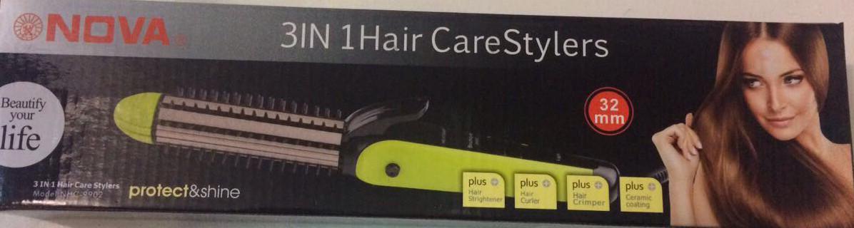 Многофункциональная плойка-щипцы для волос 3 в 1 Nova NHC-9902
