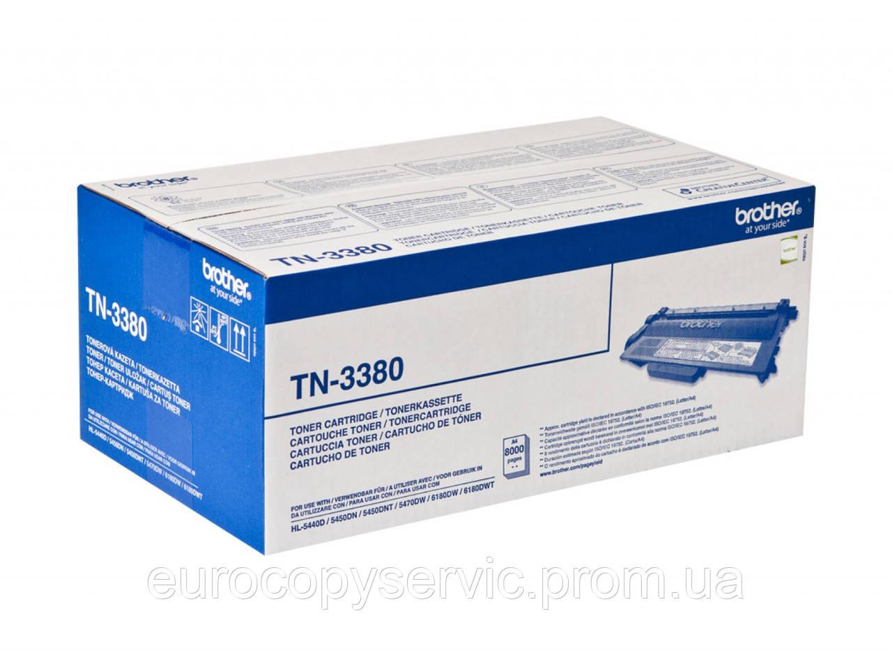 Тонер-картридж Brother HL-5440/5450/6180/DCP-8110/8250/MFC-8520/8950 ресурс 8 000 стор@5% (А4) (TN3380)