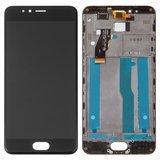 Дисплей модуль Meizu M5s M612 в зборі з тачскріном, чорний, з рамкою