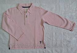 Реглан-поло из органического хлопка светло-розовый (Z&M, Турция)