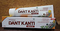 Дент Канти Dаnt Kanti Natural 100 гр Патанджали - травяная ежедневная натуральная зубная паста аюрведа, Индия