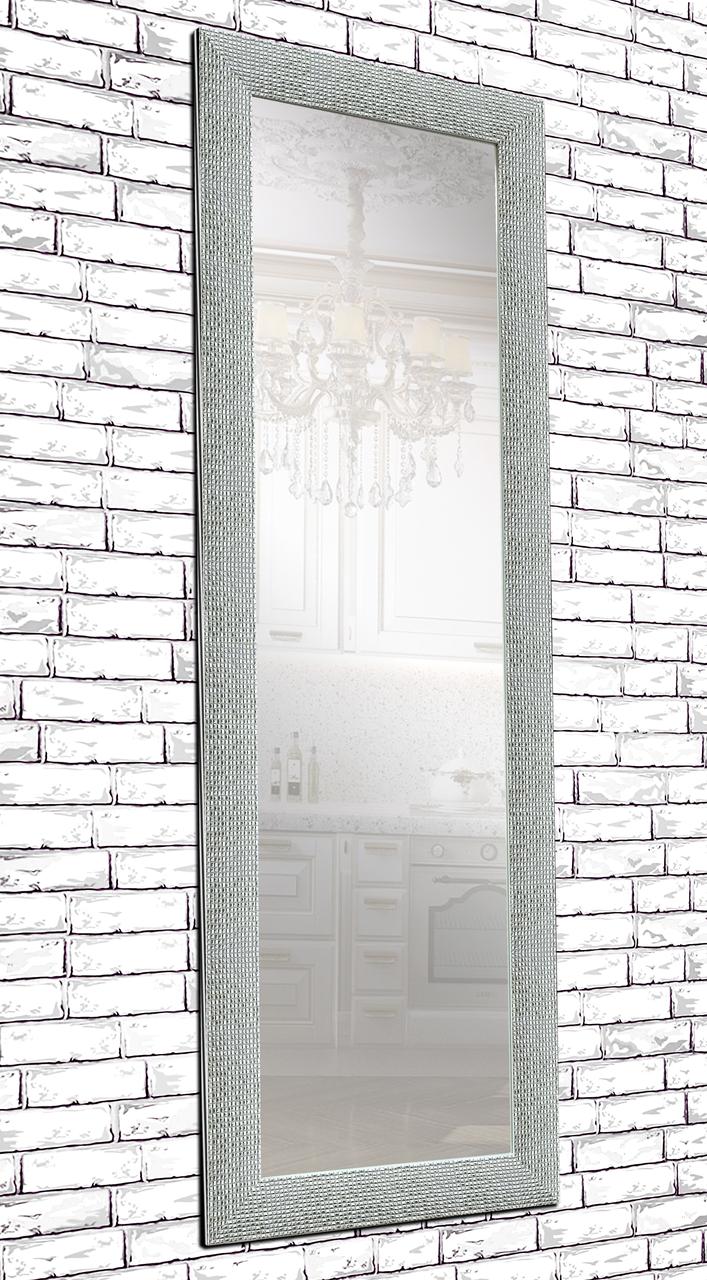 Зеркало настенное в раме Factura  Silver сube 60х174 см серебро