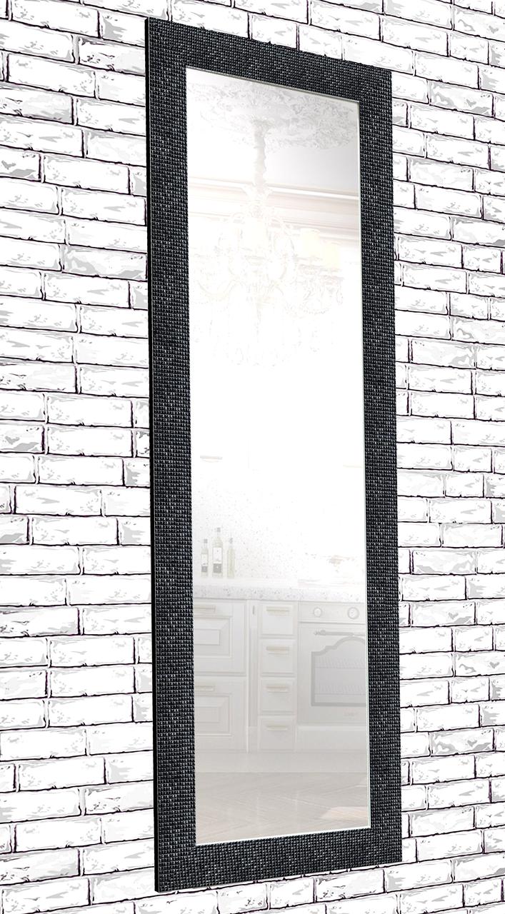 Зеркало настенное в раме Factura Black cube 60х174 см черное, фото 1