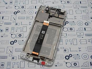 Дисплей Honor 7a модуль белый Сервисный оригинал с разборки