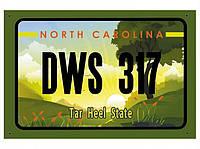 Американский номер Северная Каролина (Изготовим за 1 час)