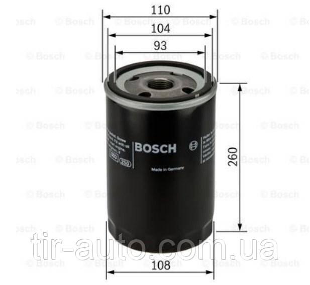 Фильтр масляный H=260mm VOLVO F,FL,FH,FM ( BOSCH )