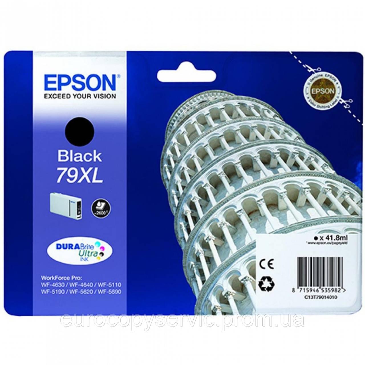 Картридж Epson WF-5110/WF-5620 black XL (C13T79014010) Original