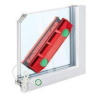 Магнітна щітка SUNROZ Glider для миття вікон з двох сторін одночасно Червоний (SUN4938)