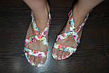 Босоножки с цветами 37р  маломерят, фото 4