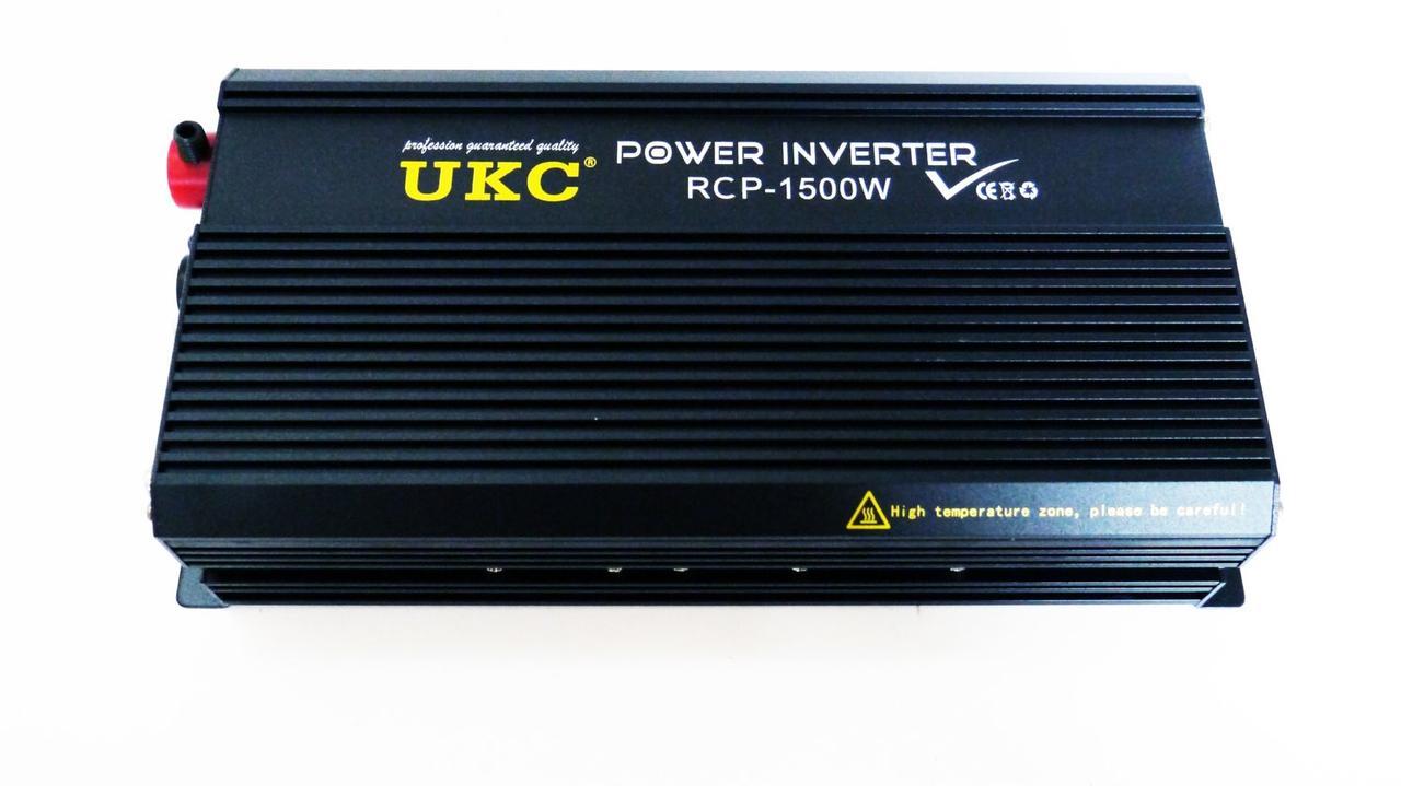 Преобразователь напряжения AC/DC RCP 1500W PROFESSIONAL  12-220V