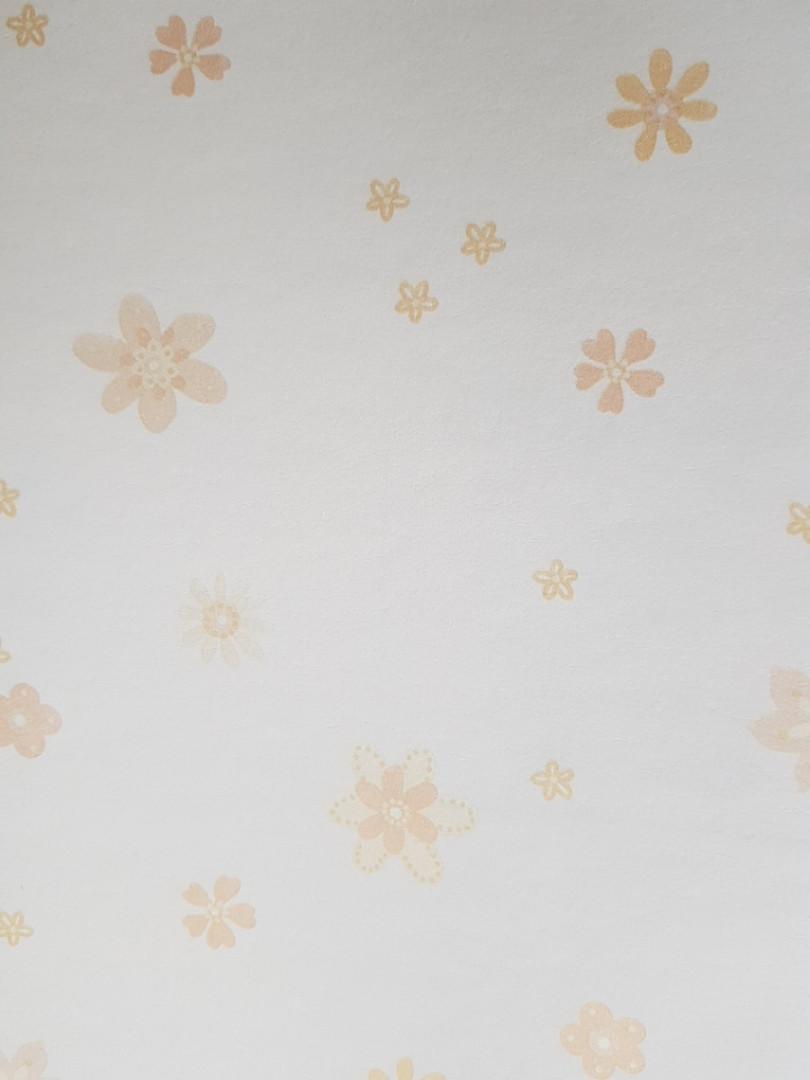 Обои виниловые на флизелиновой основе G.L.Design 23181 COLOURFUL детские кремовые цветочки