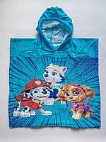 Пляжное полотенце пончо щенячий патруль