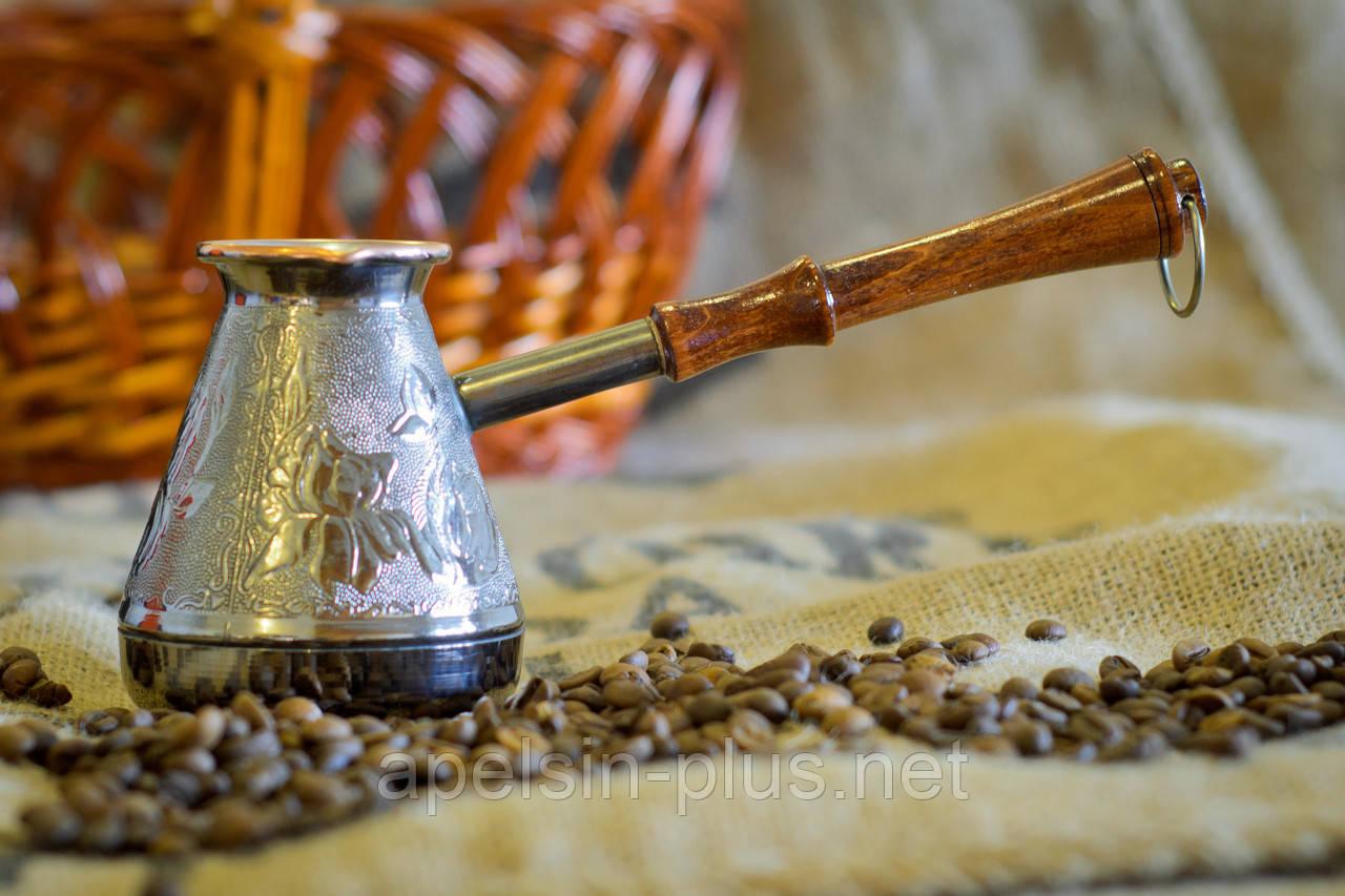 Мідна турка для приготування кави 300 мл Орнамент ОПТ