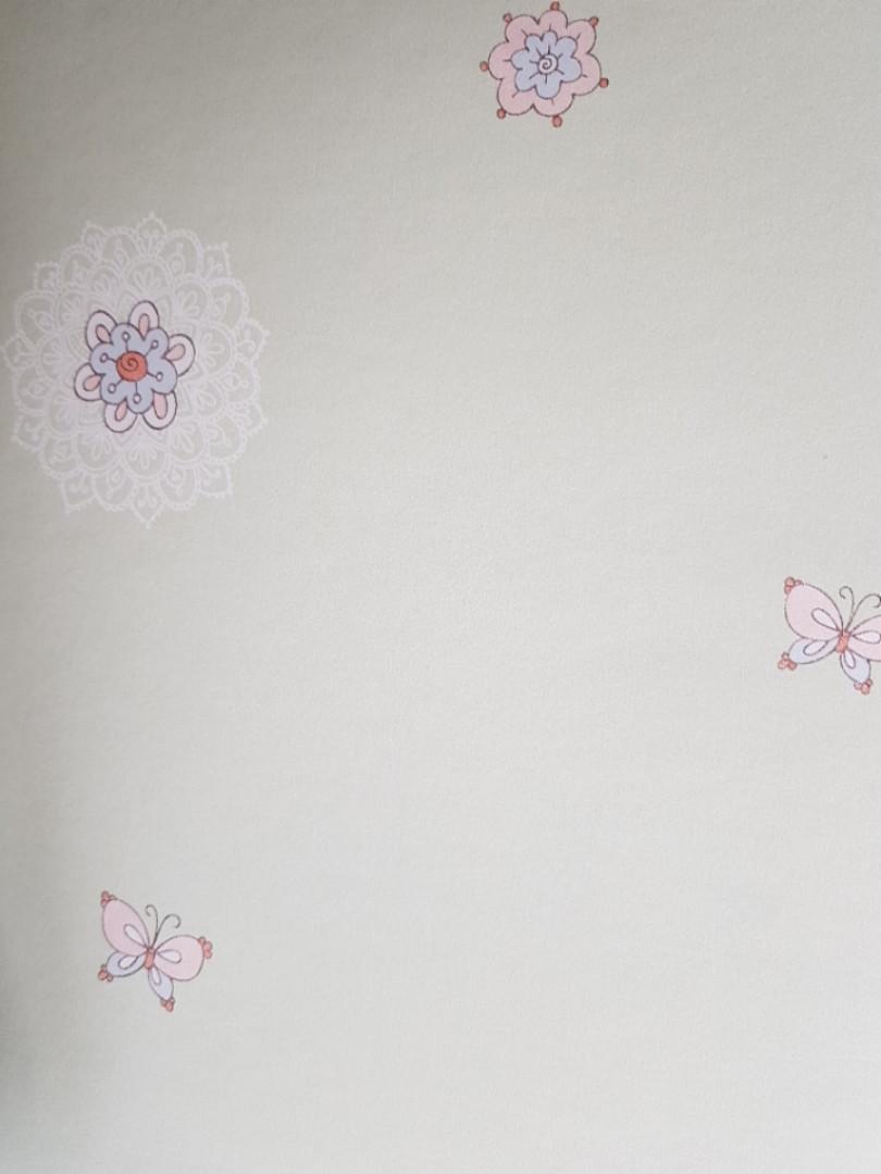 Обои виниловые на флизелиновой основе G.L.Design 23290 COLOURFUL детские салатовые бабочки птички