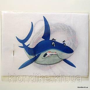 """Набор для вышивания крестом """"Акула"""", 19×14 см"""
