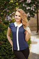 Женские блузки с коротким рукавом, без рукава.  (р42-48)