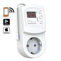 Terneo rzх - Wi-Fi терморегулятор розеточный для управления обогревателем со смартфона и интернета.