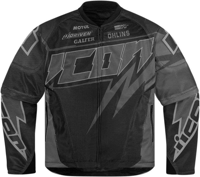 Мотокуртка ICON JERSEY SPAZTYK BLACK XL