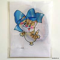 """Набор для вышивания крестом """"Котёнок с бантиком"""", 19×14 см"""