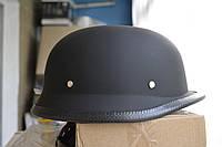Шлем ретро (каска немецкая) черный мат, размер M (окружность головы 57-58см)