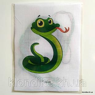 """Набор для вышивания крестом """"Змеёнок"""", 19×14 см"""