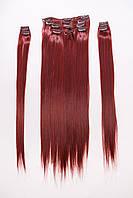 №1.Набор из 8 прядей (ТЕРМОВОЛОКНО),цвет ярко-красный