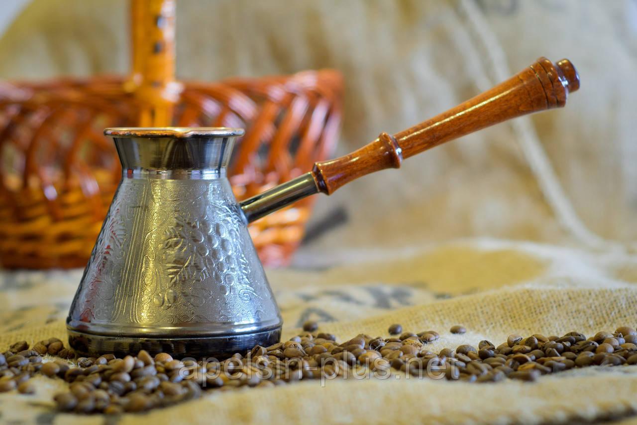 """Медная турка для приготовления кофе 500 мл """"Орнамент"""" ОПТ"""