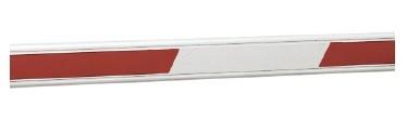 Стріла шлагбауму зі світловідбиваючими наклейками 7м FAAC