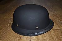 Шлем ретро (каска немецкая) черный мат, размер XL (окружность головы 61-62см)