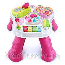 Розвиваючий музичний столик Навчання сидячи і стоячи Рожевий VTech Sit-to-Stand Learn
