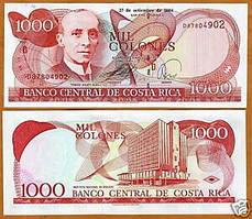 Коста Рика /Costa Rica 1000 Colones 2004 Pick 264e UNC