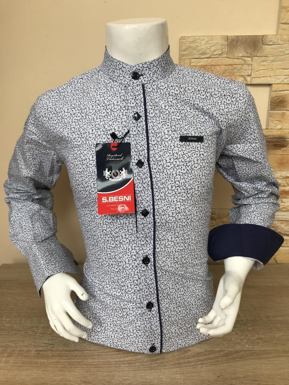 Детская рубашка Sinyor Besni 5-8 стойка с принтом