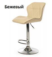 Барный стул B-70 бежевый искусственная кожа Vetro Mebel