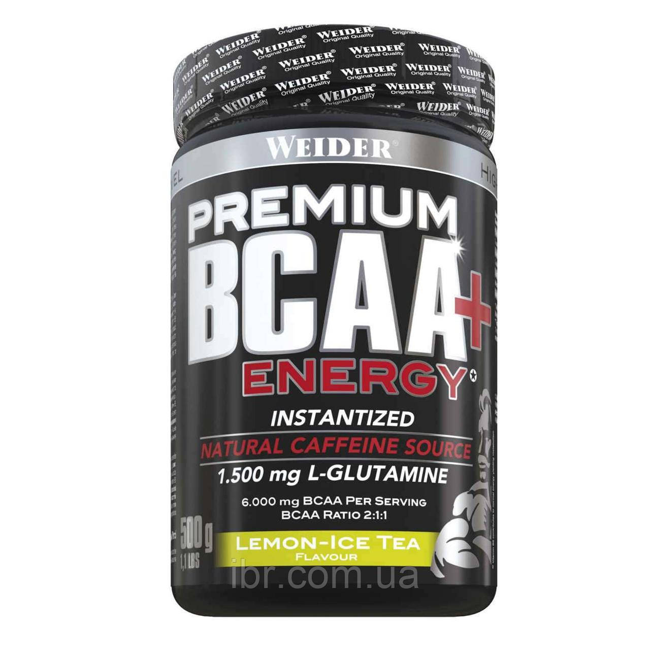 Аминокислоты WEIDER Premium BCAA + Energy 500 g Lemon-Ice Tea