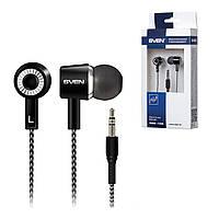 Гарнитура Sven E-109M черно-серые, вакуумные, проводные наушники с микрофном для телефона, навушники свен