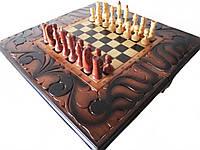 Шахматы резные, ручная работа по дереву