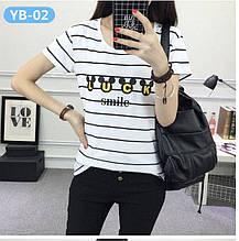 Женские футболки в полоску из мягкой вискозы