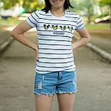 Женские футболки в полоску из мягкой вискозы, фото 2