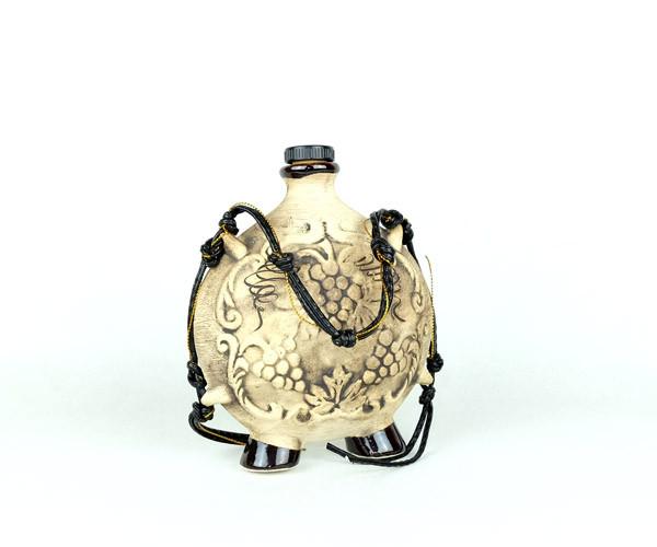 Фляга- керамическая подарочная бутылка для вина 0,5 литра