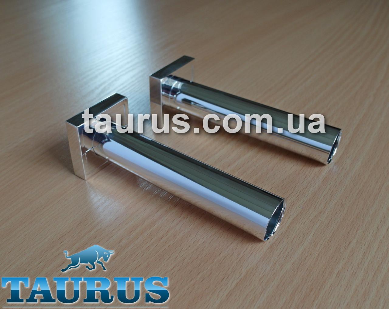 Разборный маскировочный комплект трубки с фланцем для скрытия труб подключения и провода от электроТЭНа, хром