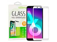 Защитное стекло Optima 3D для Samsung A6 2018 (A600F), белое