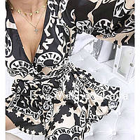 Шикарное платье с длинным рукавом