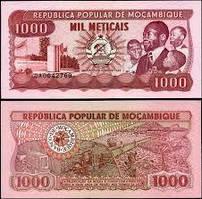Мозамбик/Mozambique 1000 Meticas 1989 Pick132c UNC