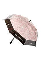 """Зонтик """"Маленькие цветочки"""" dlp D=103см Розовый, Черный, Прозрачный"""