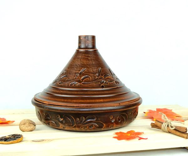 Тажин из керамики резной 2,5 л 260 мм