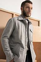 Мужская утепленная рубашка-жакет White dog studio M-L Серая FW1801, КОД: 1094164